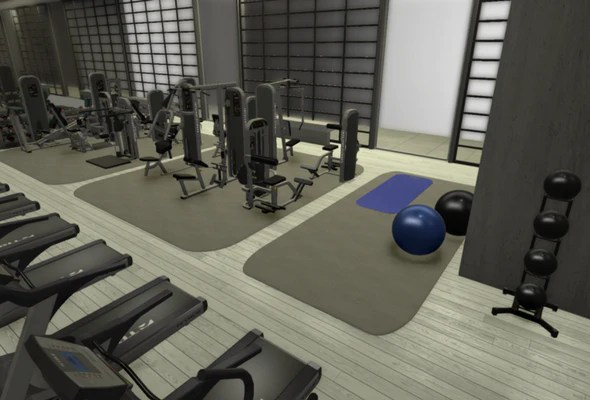 chair gym setup lane recliner chairs concepts commercial gyms 3d render of
