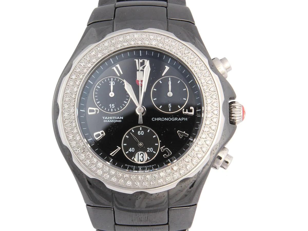Michele Black Ceramic Diamond Tahitian Watch - Ann'
