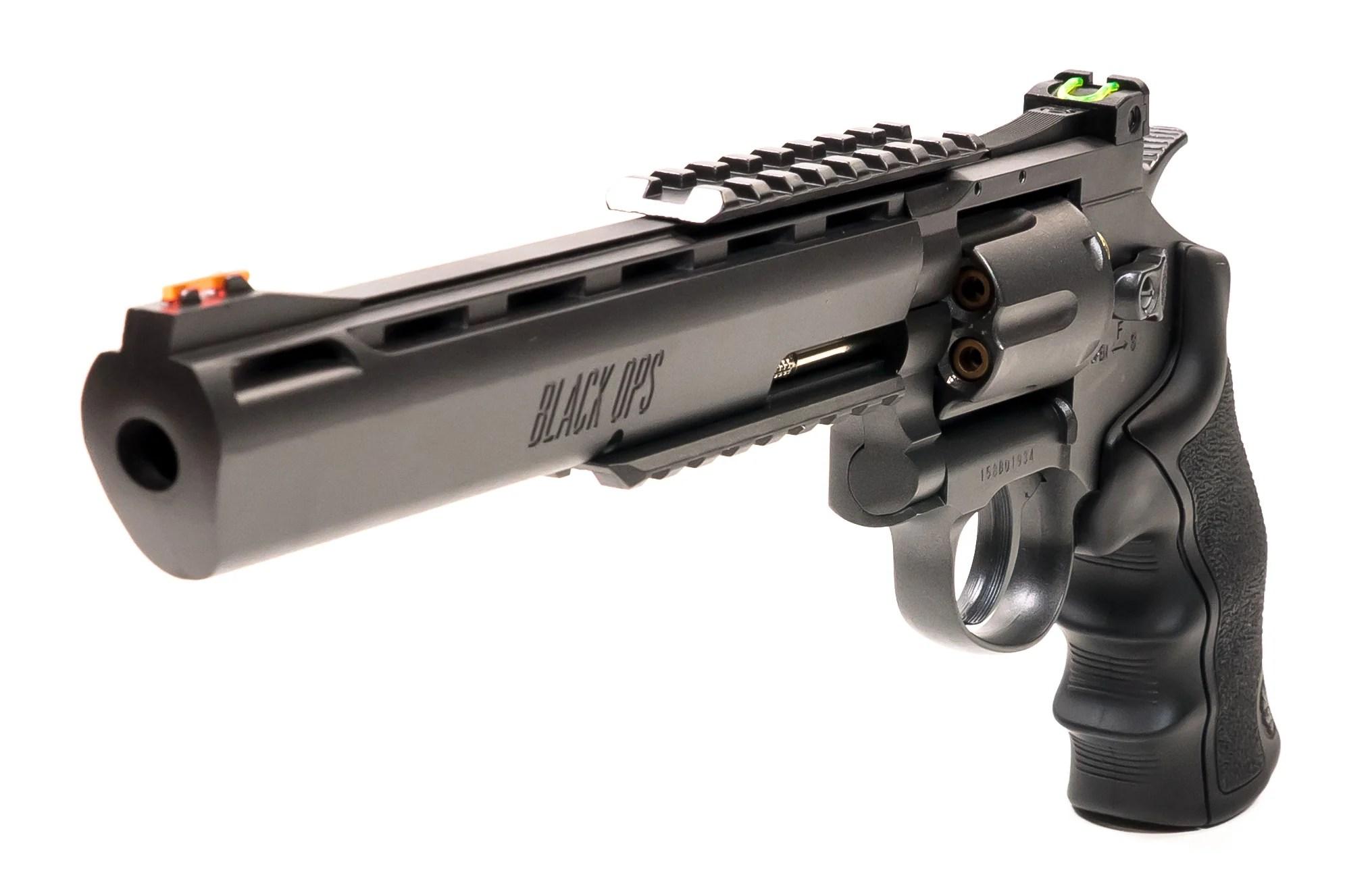 black ops exterminator 8 inch revolver gun metal finish full metal co2 bb pistol shoot 177 bbs pellet cartridges available [ 1991 x 1327 Pixel ]