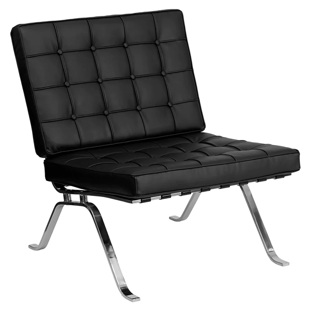 Black Leather Lounge Chair Hercules Flash Series Black Leather Lounge Chair