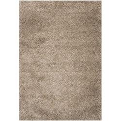 8 x 10 hand tufted plush taupe area rug