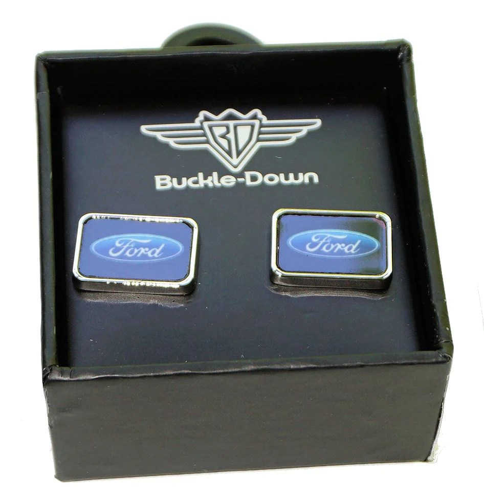 Ford Oval Cuff Links Mustang Trailer