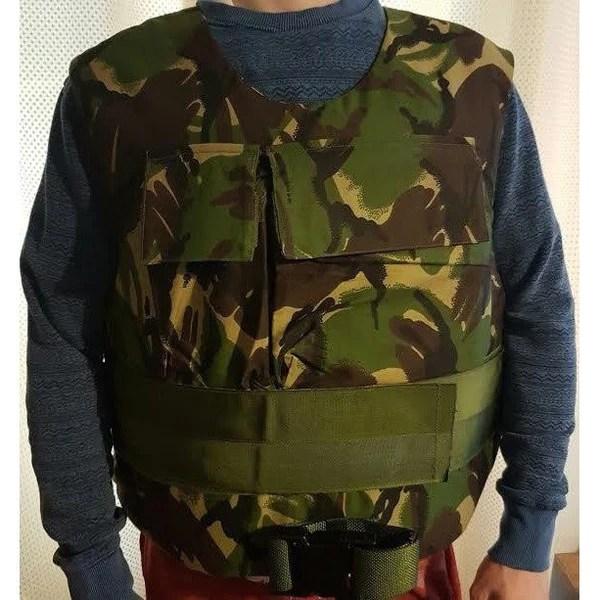 Protective Body Armour Vest  Woodland DPM Camo 6500