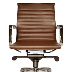 Desk Chair Brown Leather Boon High Robin Lowback Office From Wobi