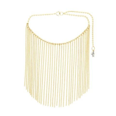 wxyz jewelry ball chain curtain necklace