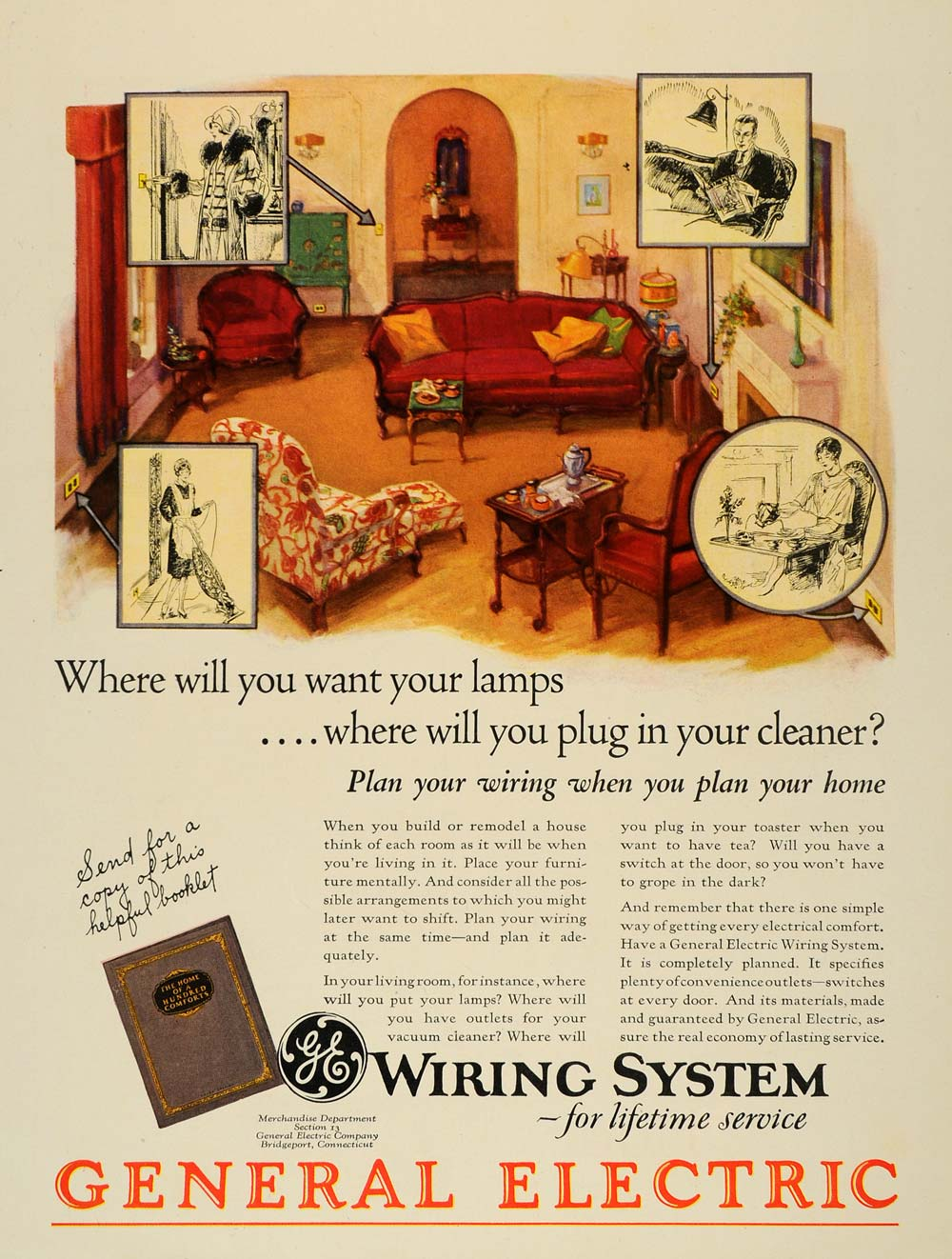 hight resolution of 1928 ad general electric wiring system cables home original advertis period paper
