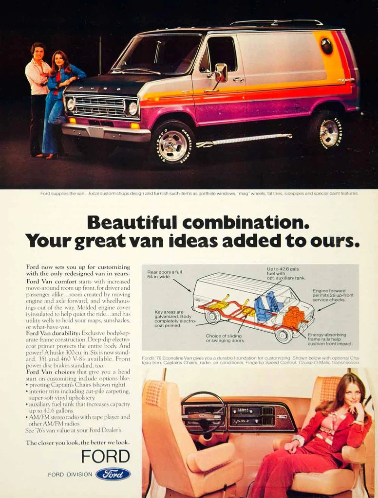 hight resolution of 1975 ad 1976 ford econoline van 3 door full size e series 300 cid i6