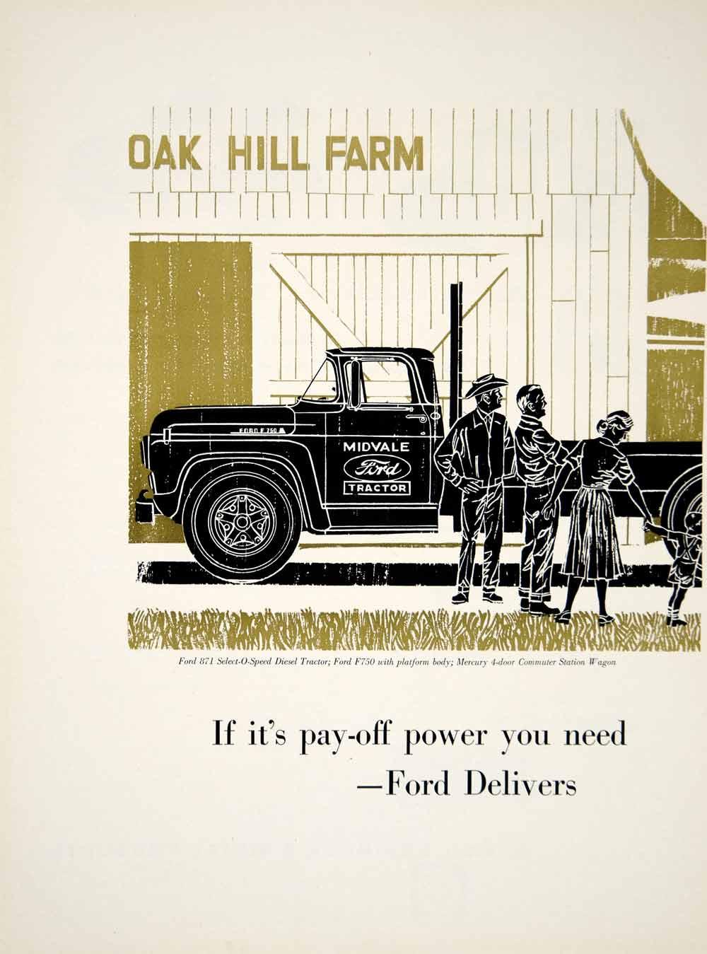 medium resolution of 1960 ad ford tractor midvale truck boys station wagon farmer dearborn yfq1