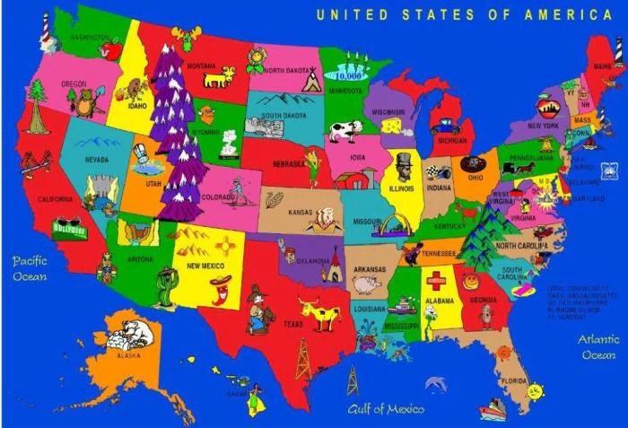 Cartoon America Rug KidCarpetcom
