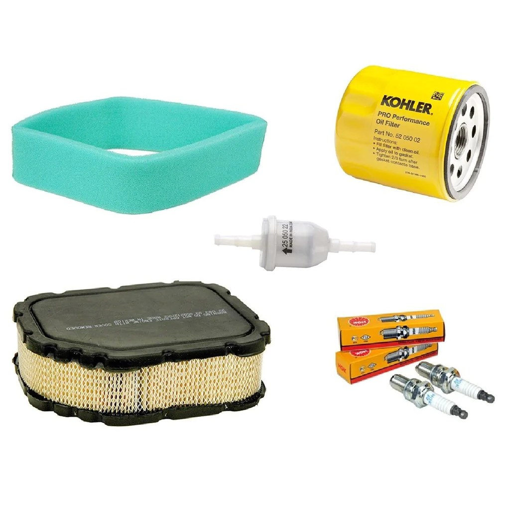oem kohler engine tune up maintenance kit air fuel oil filters spark rzt50 mower [ 1024 x 1024 Pixel ]