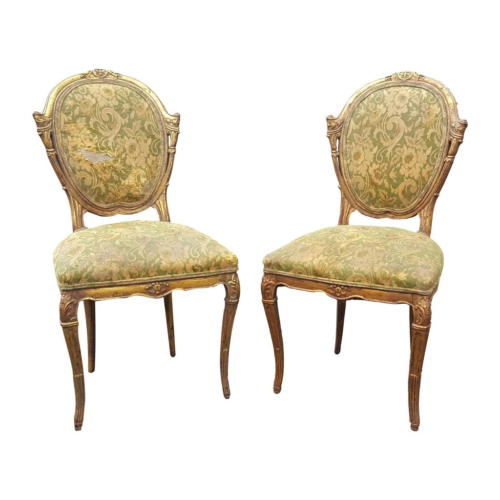 Antique Accent Chairs French Country Pair Of Antique Accent Chairs