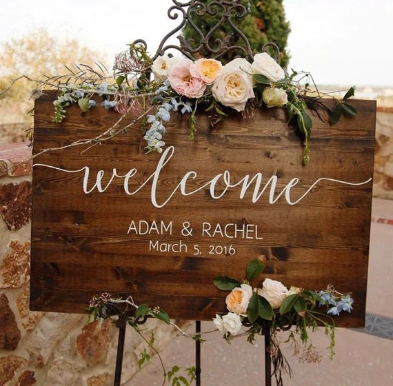 wedding welcome sign sophia