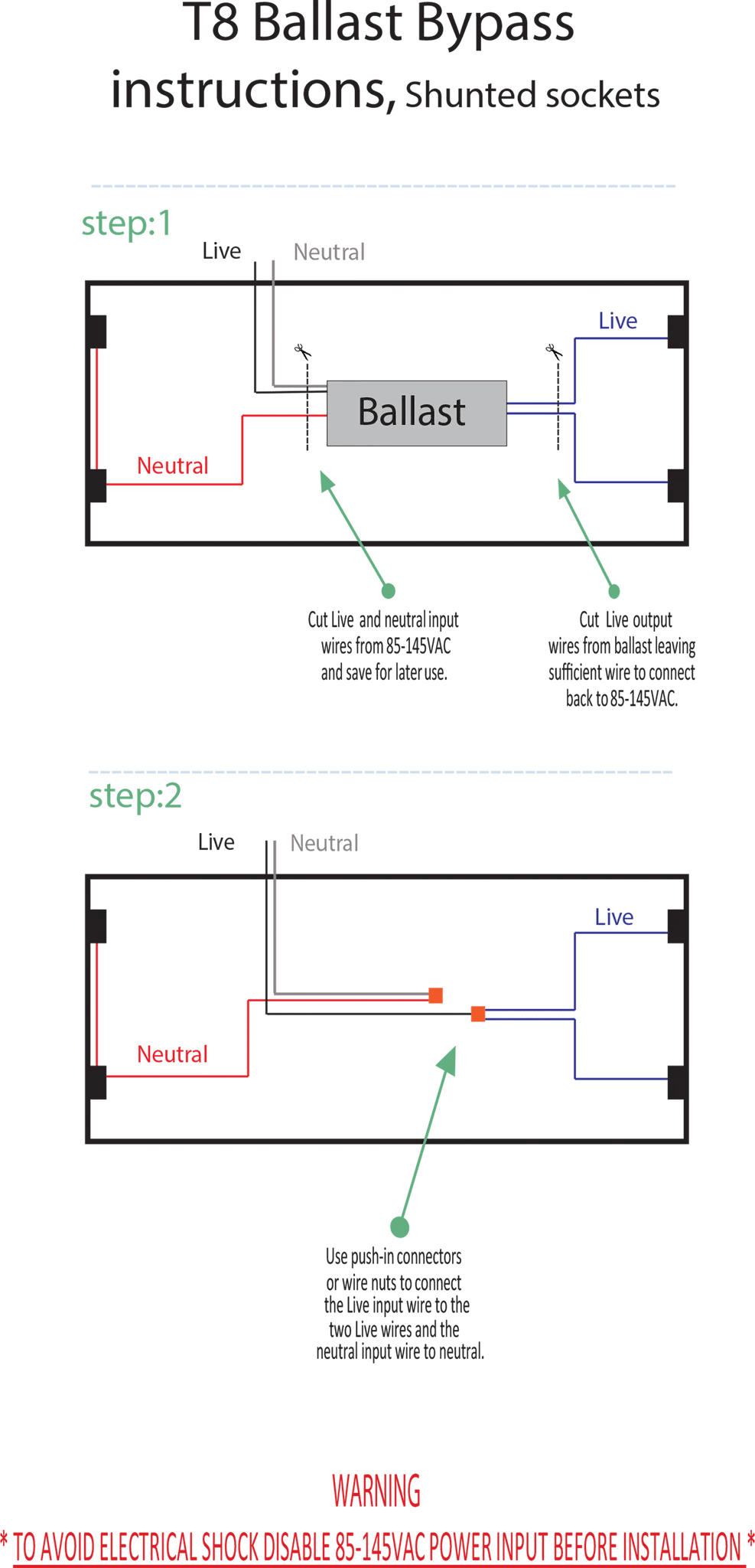 small resolution of t8 light electric diagram t5 wiring on t8 led