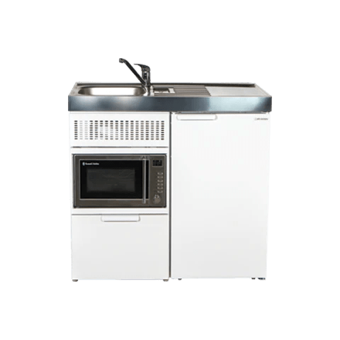 compact kitchens nz cement kitchen sink mini fully assembled tiny motel daycare style elfin essential with fridge and microwave