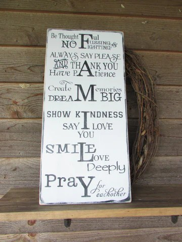 Country Home Decor Wood Signs Family Sign Grandmother Sign