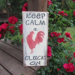 Kitchen Signs For Home 3 Bowl Sink Country Decor Wood Family Rules Rooster Sign