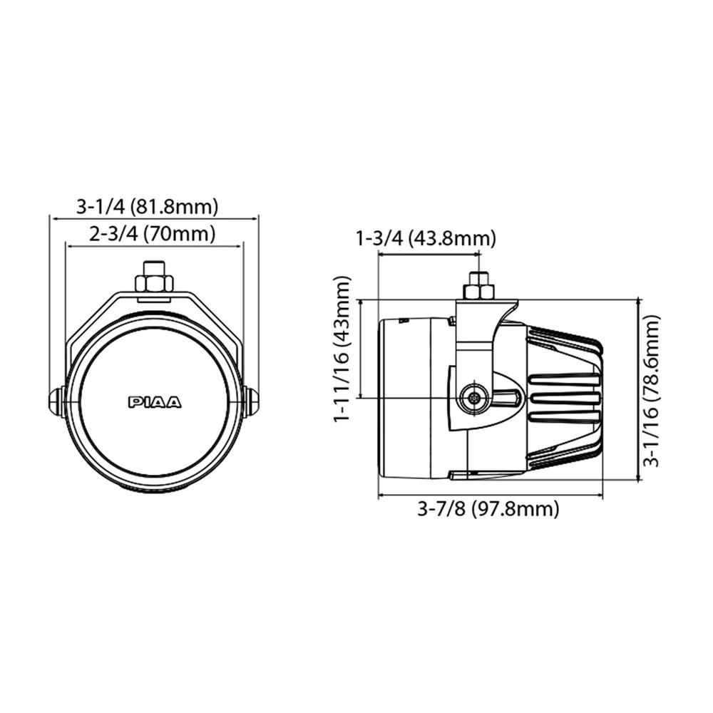 hight resolution of  piaa lp270 2 75 led fog light kit black sae compliant