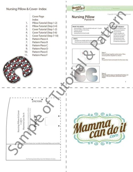 Easy Nursing Pillow Sewing Pattern  MammaCanDoIt
