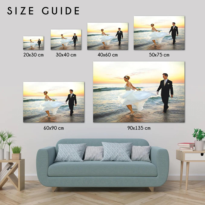rectangle photo on canvas