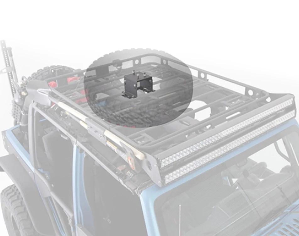 defender rack roof rack spare tire mount 8x6 5 lug pattern