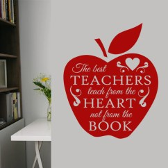 Green Apple Kitchen Decor Italian Cabinets Best Teachers Decal | Vinyl Lettering Teacher ...