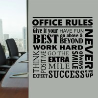 Office Rules Collage Quote | Wall Lettering | Vinyl Office ...