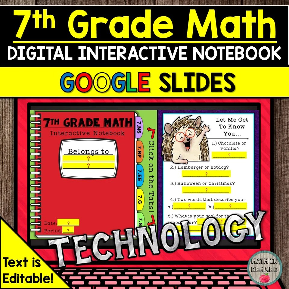hight resolution of 7th Grade Math Worksheets - Math in Demand