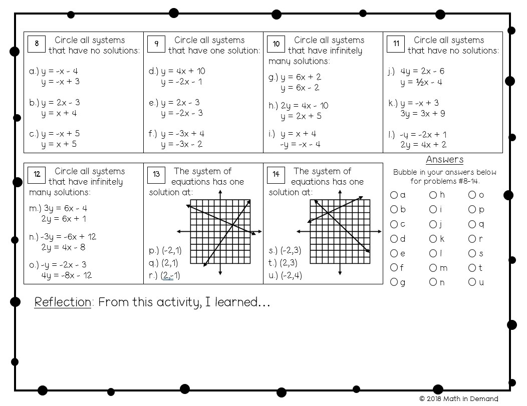 medium resolution of 8th Grade Math Worksheets - Math in Demand