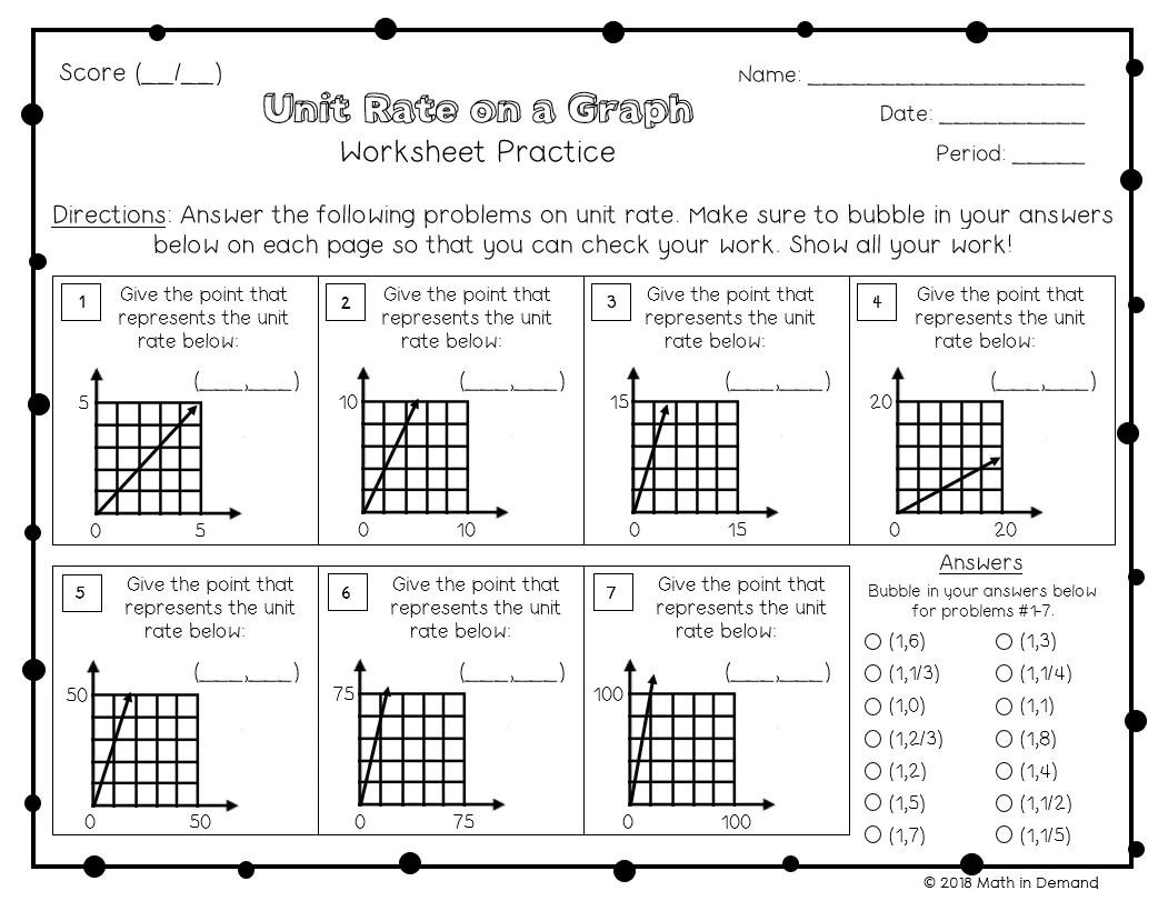 7th Grade Math Worksheets - Math in Demand [ 811 x 1051 Pixel ]