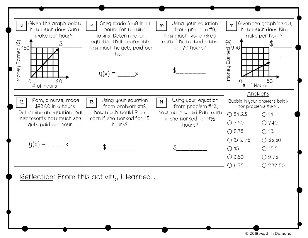 7th Grade Math Worksheets - Math in Demand [ 812 x 1051 Pixel ]