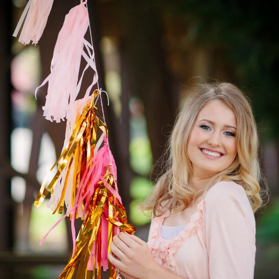 Gold Pink Peach Balloon Garland