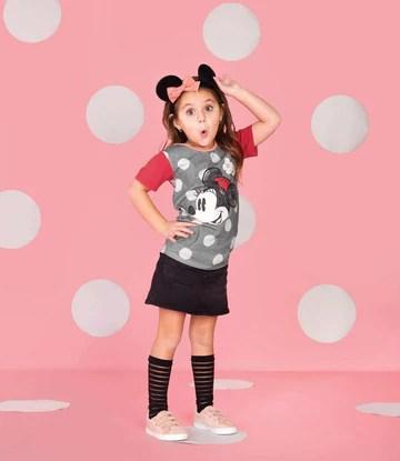 Kid's OG Style Tee - 'Minnie Flower' - Pewter