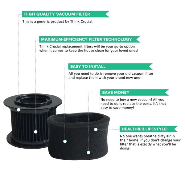Repl Bissell PowerEdge Filter for 81L2 Hardwood Vacuum