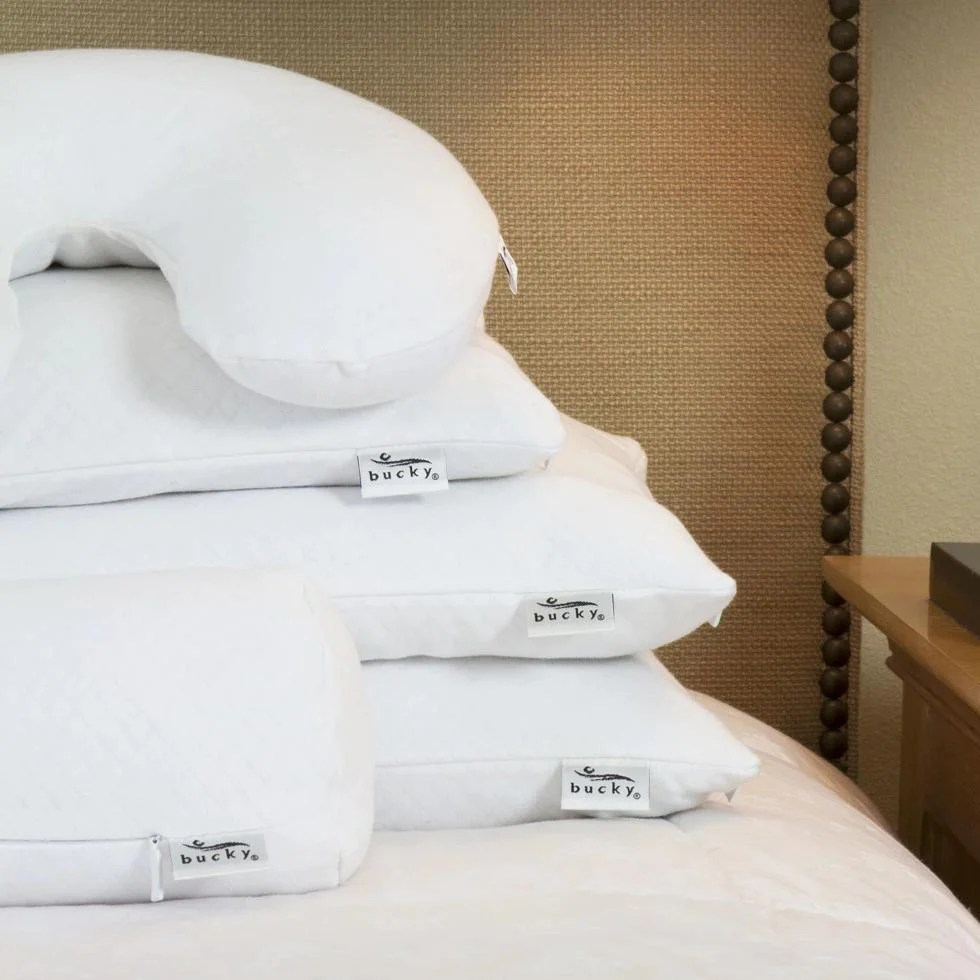 Travel Duo Bed Pillow White  Bucky