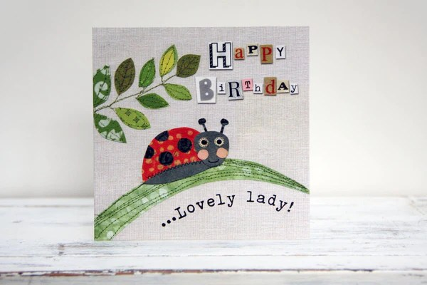 Happy Birthday Lovely Lady Greeting Card Humble Home