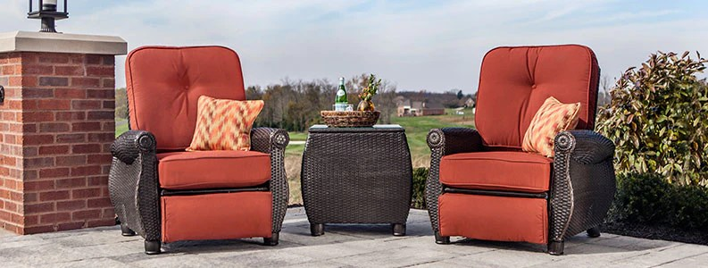 reclining patio chairs and table swing chair autocad block outdoor recliner la z boy furniture wicker