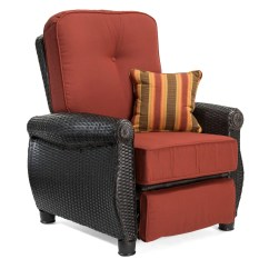 Reclining Patio Chairs And Table Double X Back Dining Breckenridge Red 3 Pc Furniture Set Two Recliners