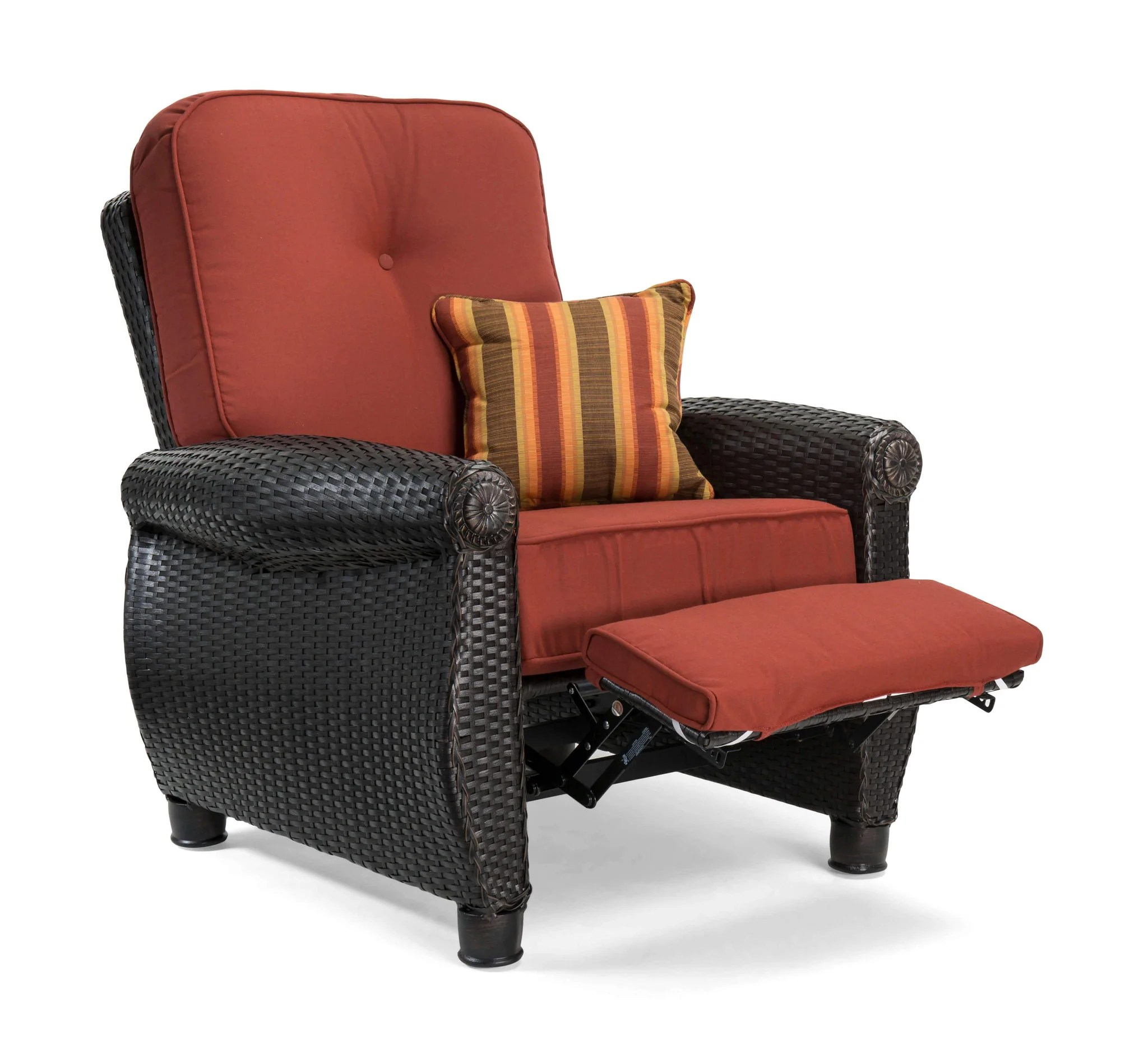 reclining patio chairs and table high at target breckenridge red 3 pc furniture set two recliners
