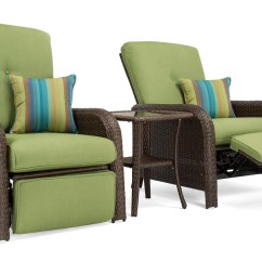 Reclining Patio Chairs And Table Beach On Wheels Sawyer Recliner Set Includes 2 Recliners Side