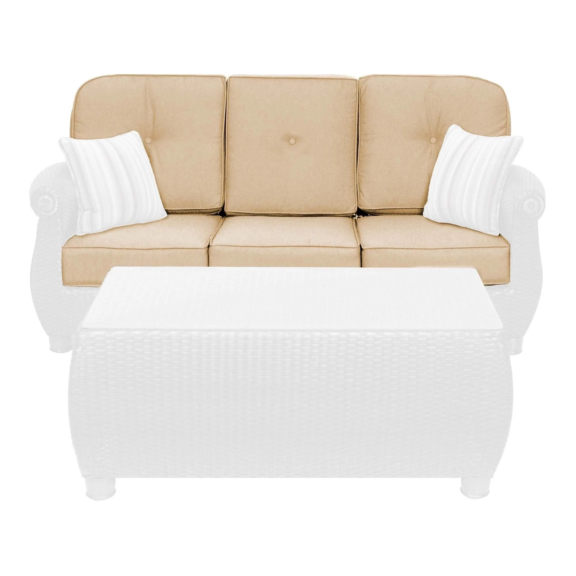 cushion sofa set farmhouse table breckenridge outdoor replacement  la z
