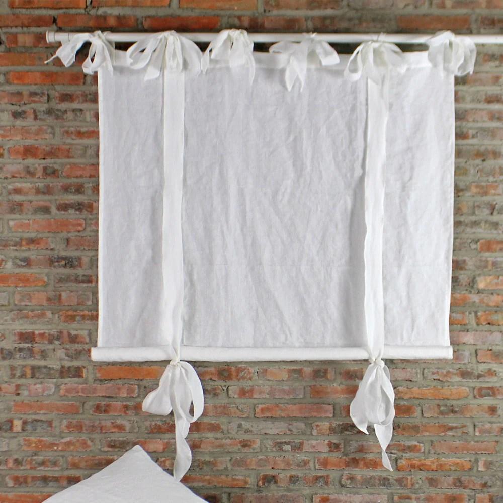 bow ties linen window curtain