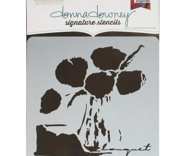 Un Bouquet Donna Downey Signature Stencils  Artified Shop