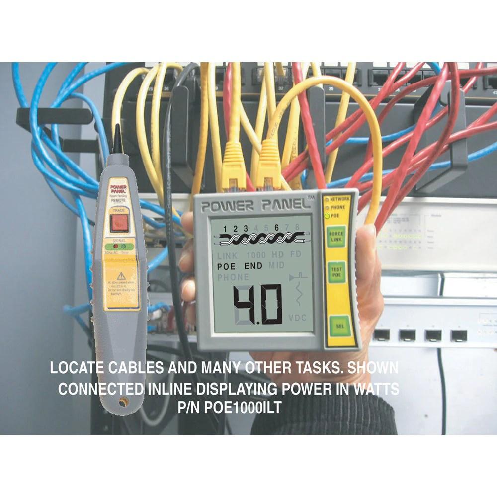 hight resolution of poe1000ilt tone star power panel cat5 6 dvm network poe tester with lighted probe india tanotis
