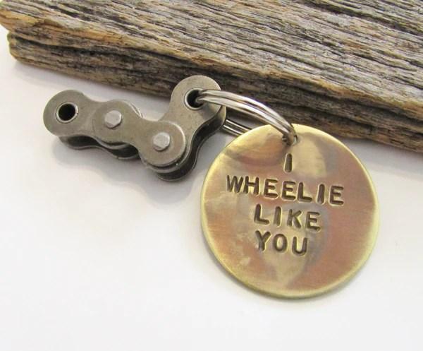 Biking Keychain For Boyfriend Bike Riding Keychain