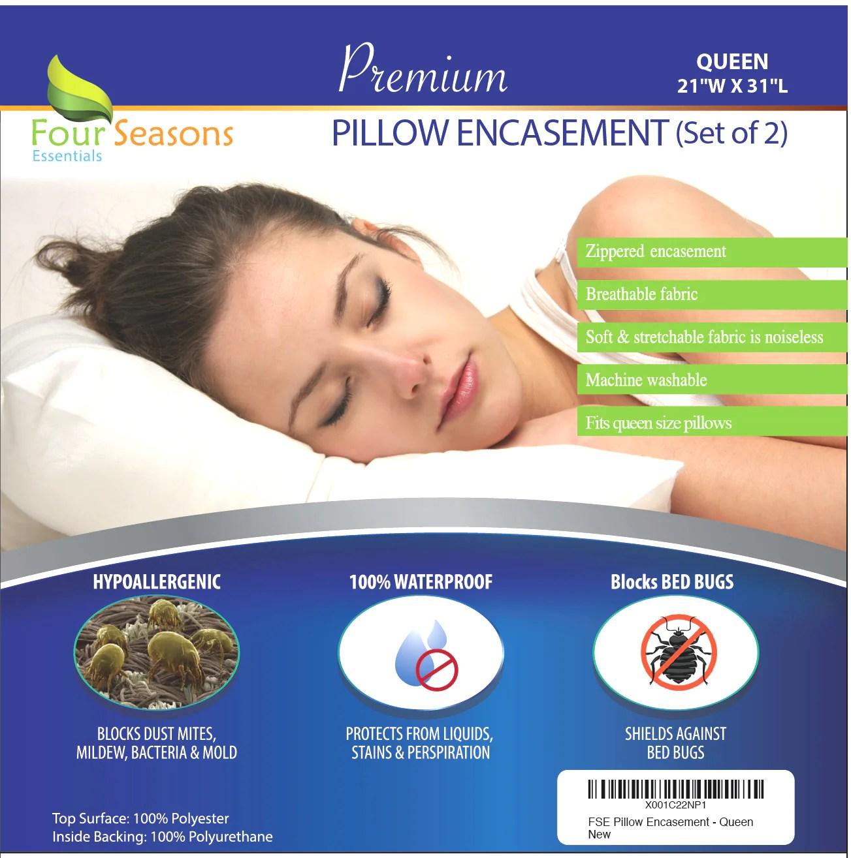 waterproof pillow protectors set of 2