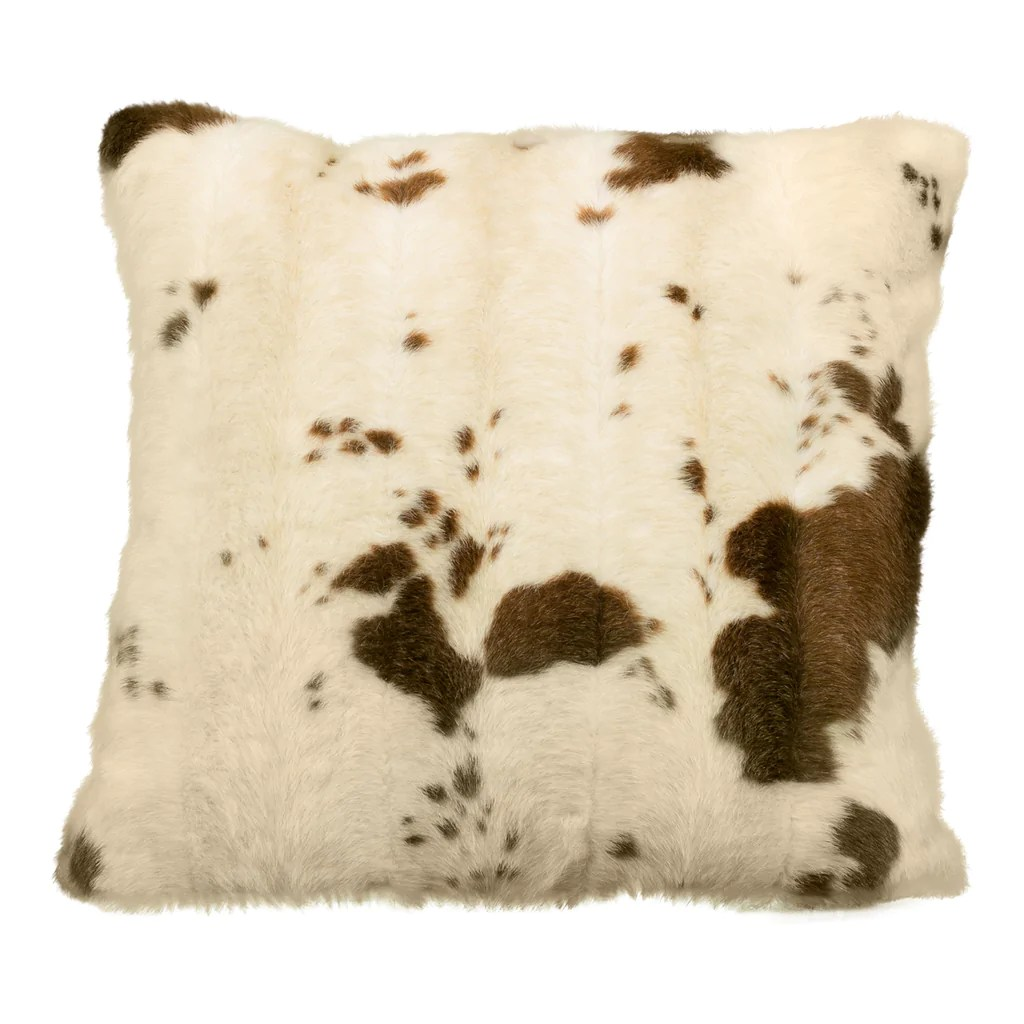 brown cream cow print