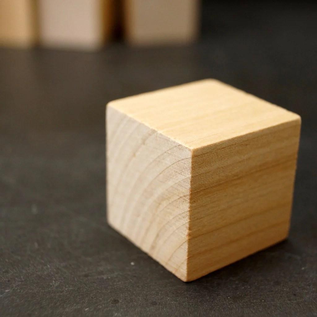 Blank - Wood Blocks Cubes 1-1 4 Cube