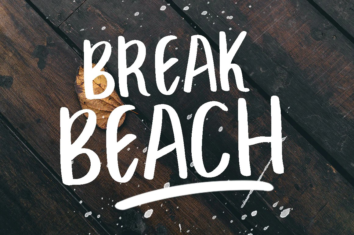 Break Beach Free Brush Font CreativeBooster
