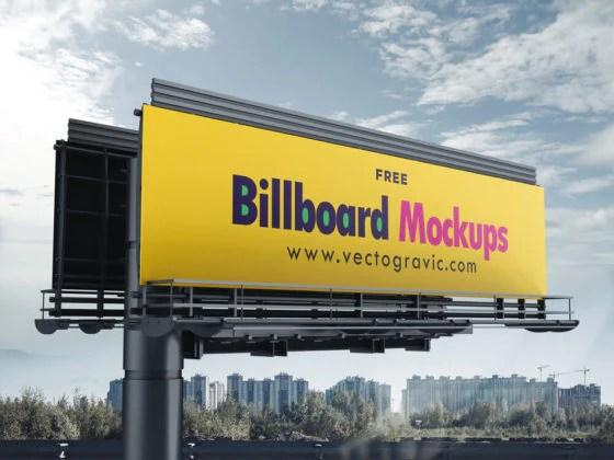 Billboard mockup · premium editable psd, vector & png mockups. Free Billboard Mockup Set Creativebooster