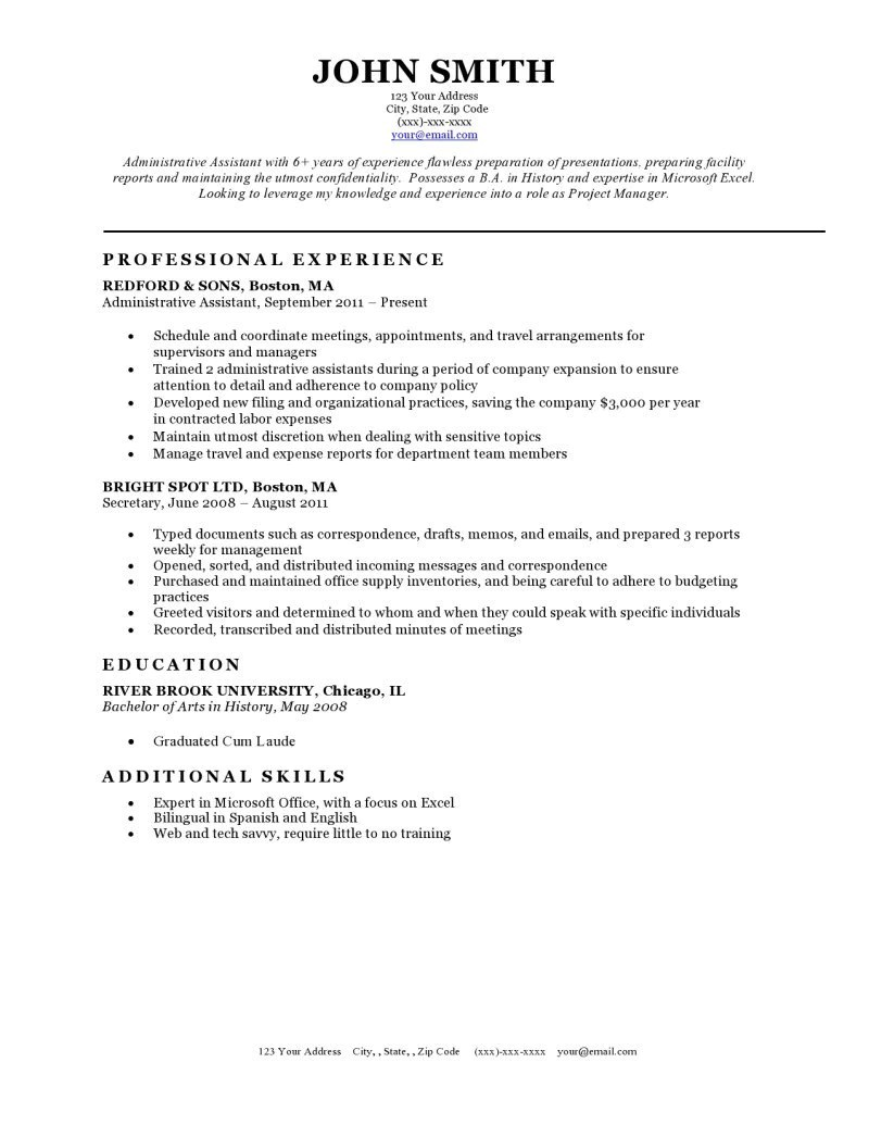 Resume Templates For Word Free Free Classic Resume Templates In Microsoft Word Format